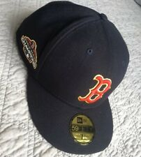 NWT New Era Boston Red Sox 2018 World Series Gold Program Fitted Hat 7 7/8