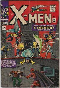 X-MEN 20 1963 SERIES UNCANNY RARE F- JACK KIRBY STAN LEE