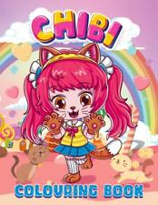 Chibi Girls Rainbow Cute Adult Colouring Book Anime Japanese Kawaii Cats