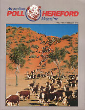 CATTLE - AUSTRALIAN POLL HEREFORD MAGAZINE Feb 1990 **GOOD COPY**