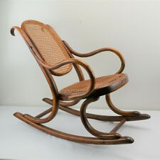 Genuine Thonet Childs Bentwood Rocker Rocking Chair Antique Caned Seat & Back