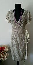 NOA NOA WICKEL SOMMER SEIDEN 100% KLEID DRESS TUNIKA SOIE DE CHINE GR. M