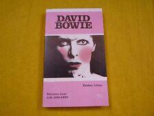David Bowie Esteban Leivas libro Book Los Juglares Spanish Jucar   NUEVO  ç
