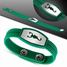 Bracelet homme watch caoutchouc vert scorpion