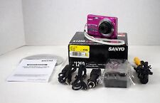 Sanyo VPC X1250 12.1 MP Pink Digital Camera With Charger