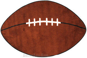"NFL Sport  Oval  Rug  FOOTBALL Design  with Non Skid  Backing Game Ball  28""x45"""