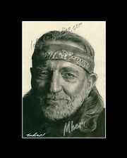Willie Nelson country singer poet drawing from artist art image picture