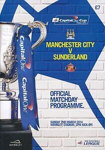 CAPITAL ONE LEAGUE CUP FINAL 2014 Manchester City v Sunderland