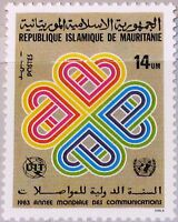 MAURITANIA MAURETANIEN 1983 791 532 World Communication Year Weltfernmeldetag **