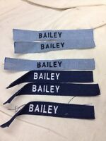 "BAILEY Sew On Name Tags, (6) Tags with the name ""BAILEY"""