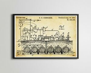 """1893 Schneider BEER Brewing Patent POSTER! (up to 24"""" x 36"""") - Brewery - German"""
