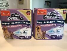 Odor Eliminating Gel Dog Pads Home Protection Lavender Scented 50 Count X 2