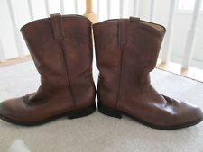 BEN MILLER BM M901 Brown leather cowboy boots size 11.5 D
