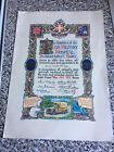 Original WW1 Memorabilia Of Aux - Military Hospital Timberhurst Bury Certificate