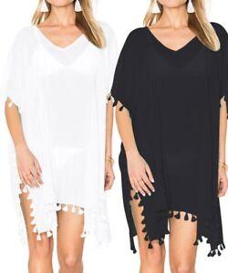 Women Beach Dress Cover Up Kaftan Sarong Summer Wear Swimwear Ladies UK STOCK