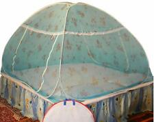 Foldable Polyester Double Bed Mosquito Net (Blue) free shipping UK