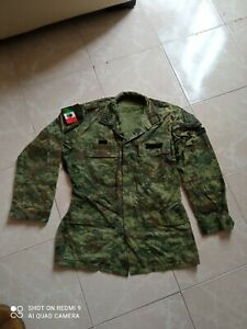 Mexican war on drugs Original Sedena Camouflage shirt, badged Mexican Army XS