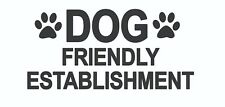 4 x - Dog Friendly... - Sign Self Adhesive Removable Waterproof Vinyl Stickers