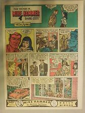 Mike Hammer Sunday Page by Mickey Spillane from 1/10/1954 Tabloid Page Size!
