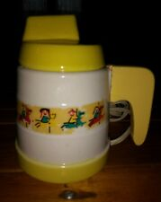 Sears And Roebuck Baby Bottle Warmer! #6866! Yellow and Cream Decorated Pottery!