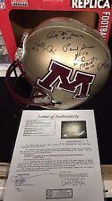 Minnesota Gophers Legends & HOF Signed FS Helmet JSA Grant Giel Bye 6 DECEASED