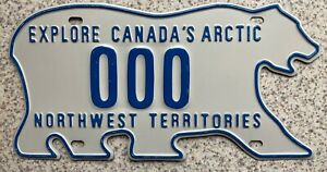 Northwest Territories Canada Bear License Canadian Licence Number Plate Sample