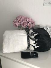 Chanel Make-up Spiegel & Blanket Fleece Decke Set 150x 200 cm XL Neu