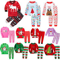 Baby Kids Boys Girls Long Sleeve Kids Pyjamas Pj's Set Nightwear Sleepwear 1-7Y
