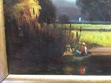 American Hudson River School of Art 19th Century Landscape Oil on Board 18 x 12