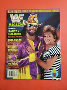 1991 WWE WWF WRESTLING MAGAZINE / MACHO MAN SAVAGE - QUEEN ELIZABETH MINT COPY