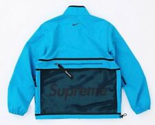 SUPREME NIKE TRAIL RUNNING JACKET BLUE Men's Size XL FW17 NIKELAB TRACK HUMARA