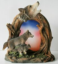 Howling Wolf Candle Holder Tea Light or Votive Candle New