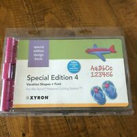 New Xyron Personal Cutting System Special Edition 4 Design Book Summer Vacation