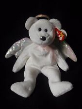 Ty HALO 1998 Beanie Baby - RETIRED- Rare - w/ errors Brown Nose