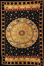 Indian Psychedelic Wall Hanging Twin Hippie Zodiac Sign Tapestry Boho Throw