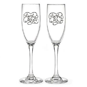 I'm His and I'm Hers Personalized Wedding Toasting Flutes (20824)