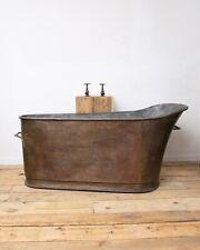 Antique 19th C. French Slipper Copper Bathtub Bath