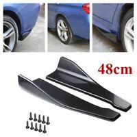 2Pcs Bumper Spoiler Rear Lip Angle Splitter Diffuser Protector For Car Sedan