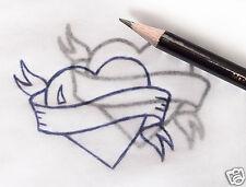 5 x Poligrafo Carbonio Tatuaggio Trasferimento Matite to2