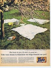 Publicité Advertising 016 1961 Tide lessive