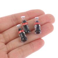 3pcs Mini Coke Drinks 1/12 Dollhouse Miniature Food Doll Drinks Play Kitchen  md
