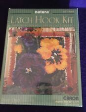 "NEW Unopened Latch Hook Rug Kit 'PANSY DUO' By Caron 17""x17"""