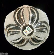 Avitra Crystal Frosted & Leaf Bowl Lead Crystal 24-oz made in Serbia Eurokristal