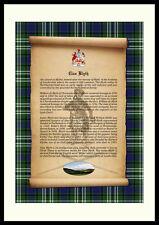 CLAN BLYTH - Clan History, Tartan, Crest, Castle & Motto MOUNTED PRESENTATION