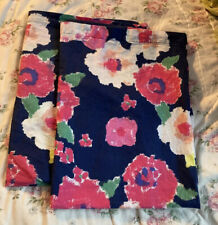 2 Martha Stewart Navy Floral Standard Pillowcases