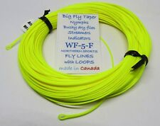 WF-5-F floating FLY LINE big fly taper w/ LOOPS ***Made in Canada***