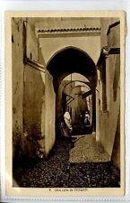 (Gw063-447) Una Calle de TETOUAN, Morocco 1936 Used VG