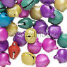 Lot of 100 10mm 3/8 inch Steel Craft Jingle Bells With Loop Use as Dangle Charms