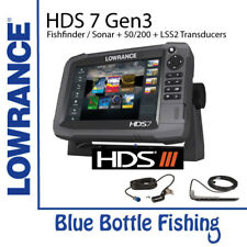 Lowrance HDS 7 Gen 3 Touch + 50/200 & LSS2 Transducers