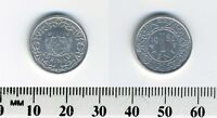 Suriname 1982 - 1 Cent Aluminum Coin - Arms with supporters
